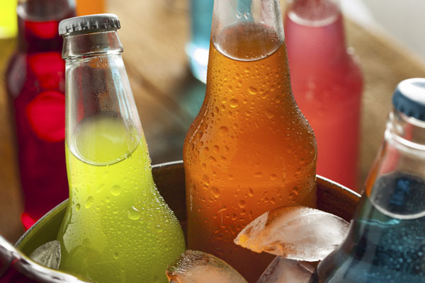 Soda in ice