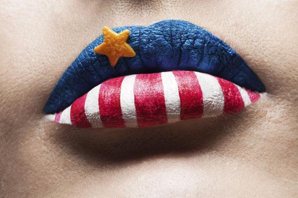 Patriotic lips