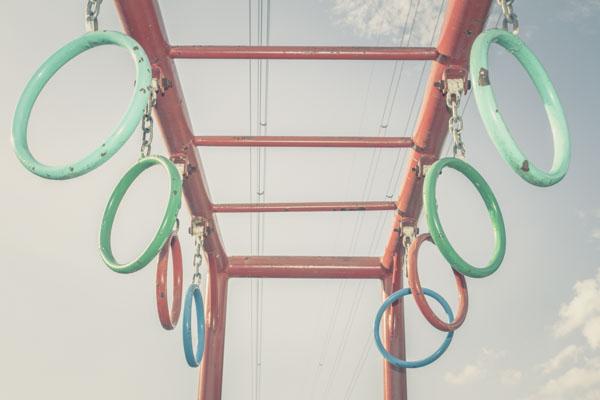 Rings on playground