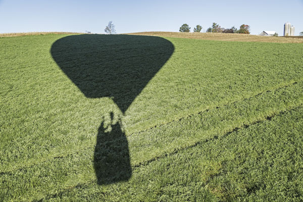 Hot air balloon shadow