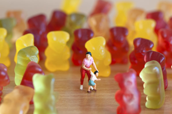 chased by gummy bears