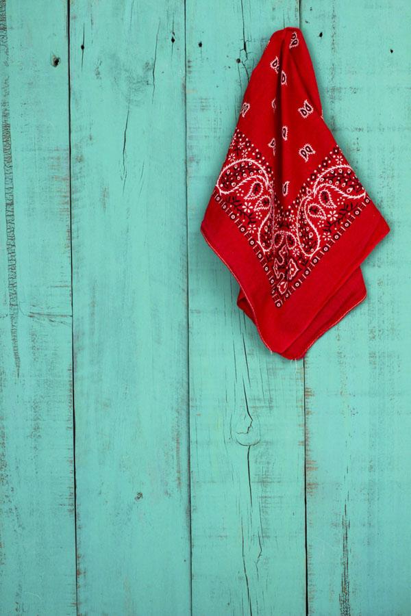Handkerchief on wall