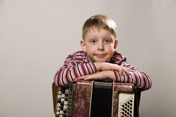 boy with accordion