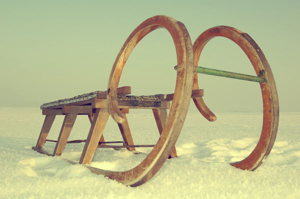 Old wooden sleigh