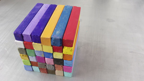 Square of chalk