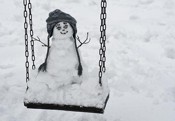 snowman on swing