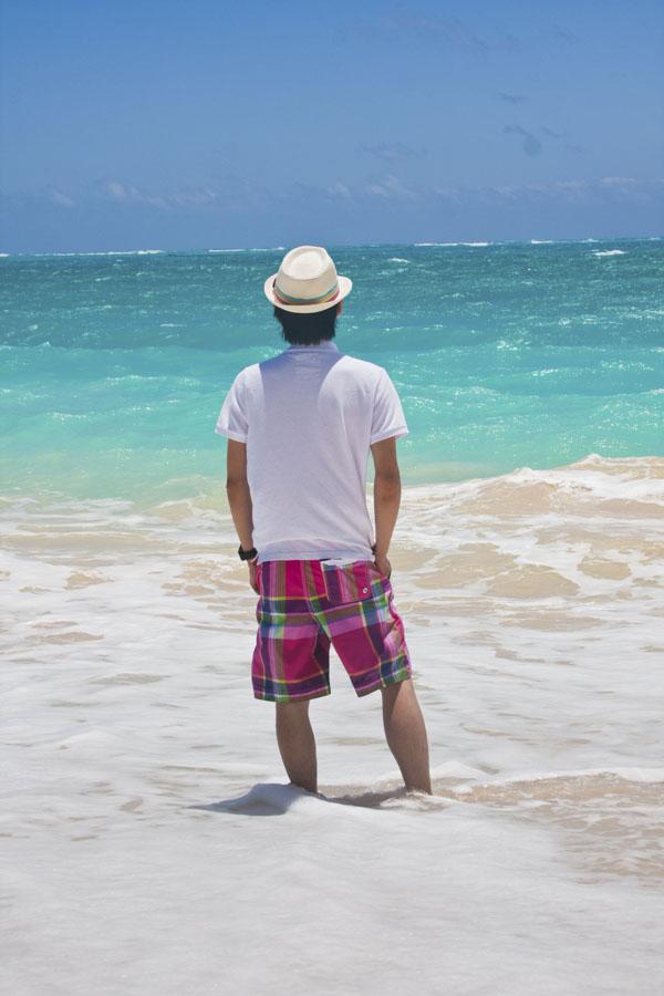 Man looking at ocean