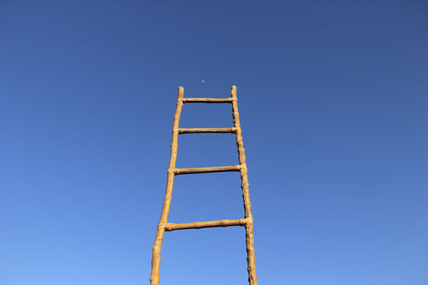 Ladder with moon