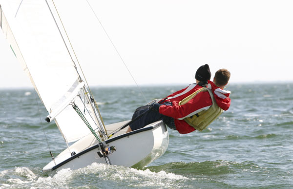 Boys sailing