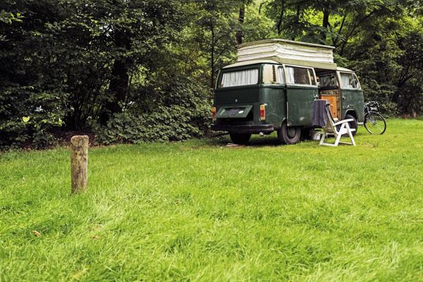 Vintage VW van camper