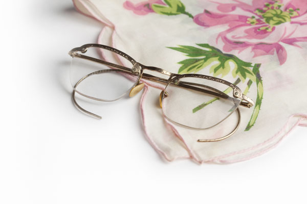 Antique Eye Glasses and Hankie
