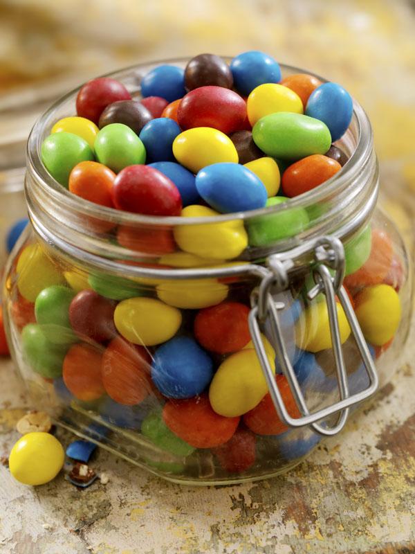 Jar of peanut M&Ms