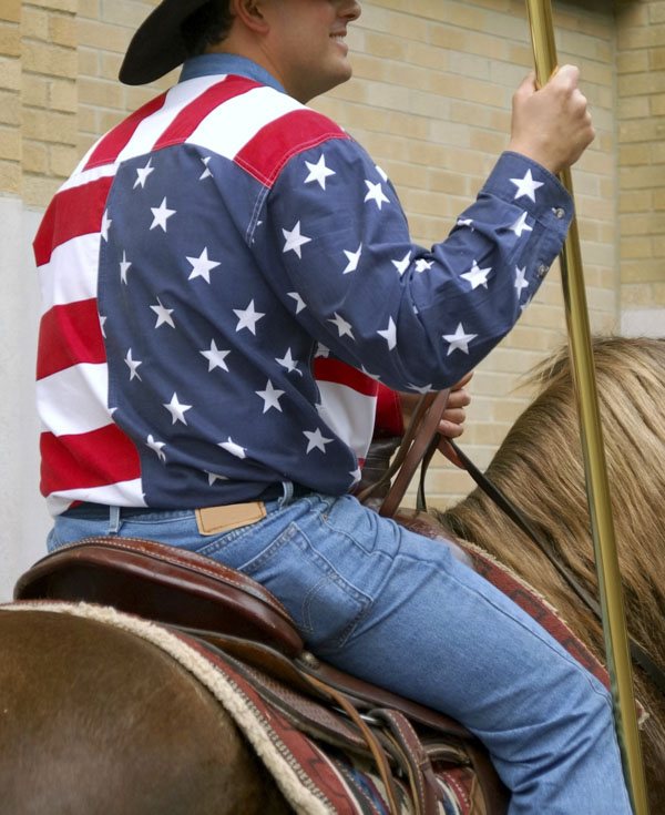 Patriotic rodeo parade
