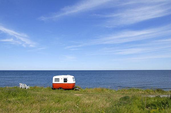 Trailer on beach