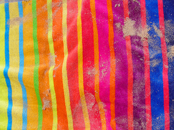 Sandy beach towel