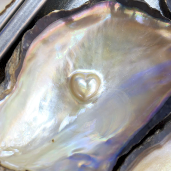 Heart-shaped pearl