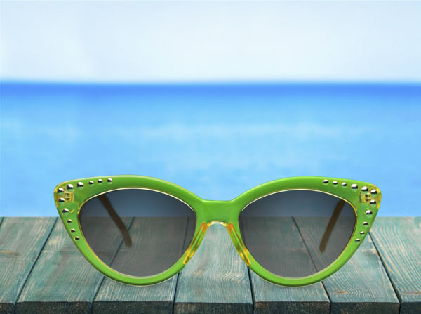 Quirky sunglasses at beach