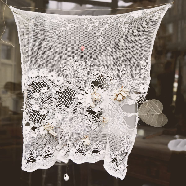 Vintage lace curtain