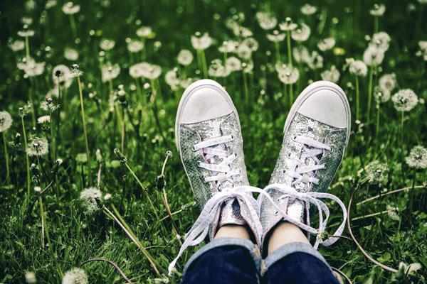 Sequin tennis shoes