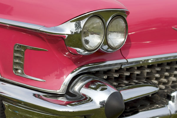 Front grille of a classic car