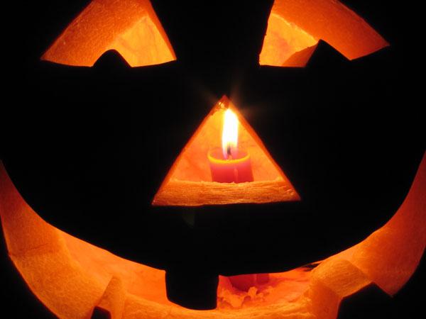 Jack-o-lantern by Candlelight