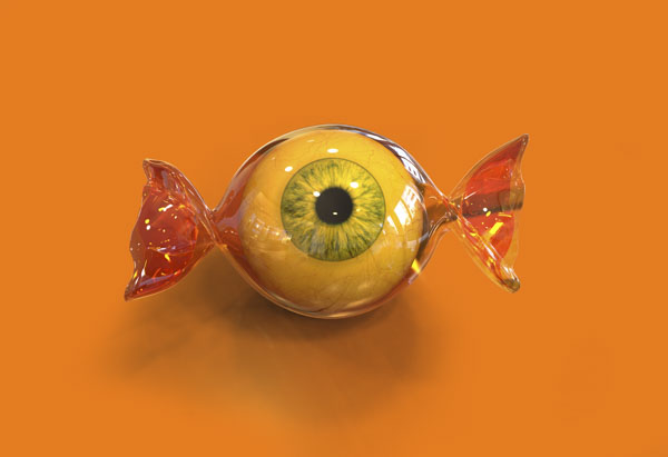 Eye ball Halloween candy