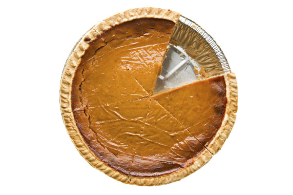 Whole Pumpkin Pie Sliced One Missing