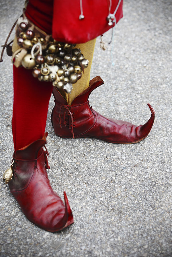 Court jester's boots and bells