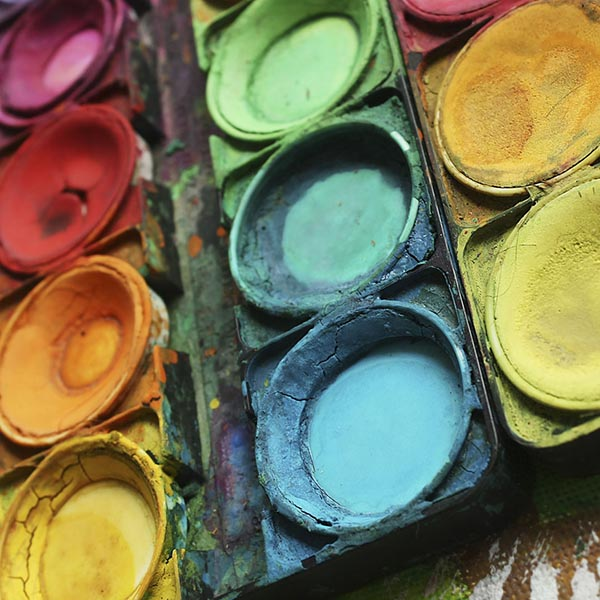 Bright beautiful color paints