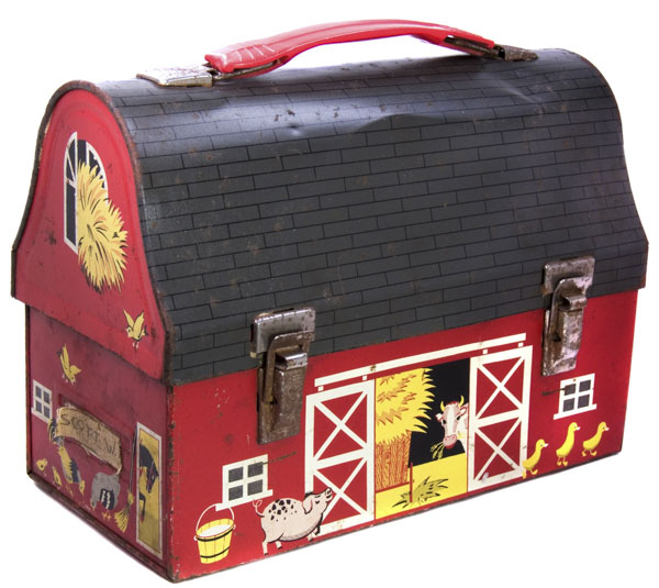 1950s child school lunchbox