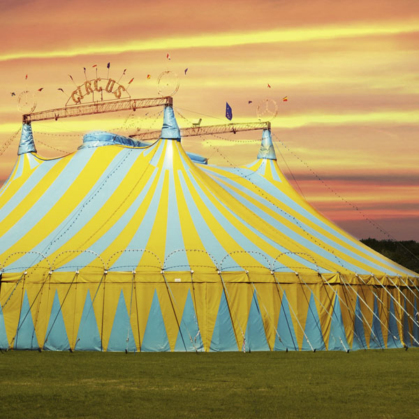 Giant circus tent