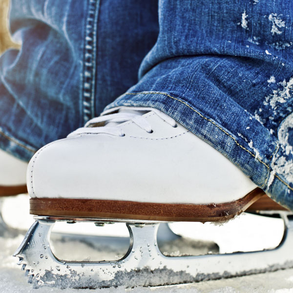 Close up of ice skate