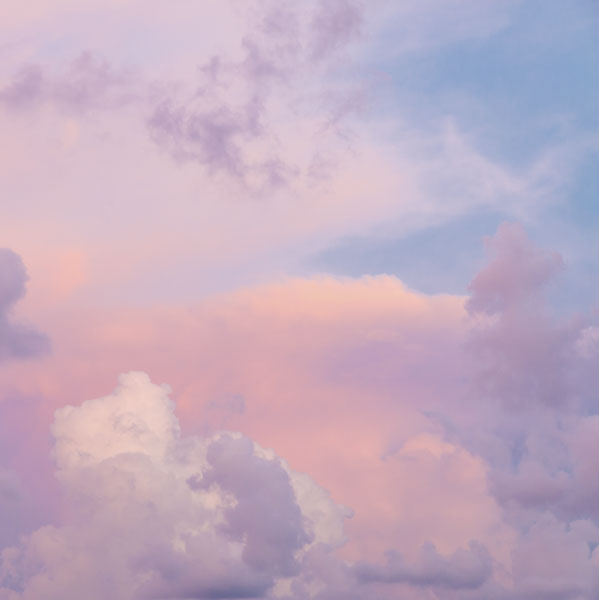 Cotton candy wings in clouds