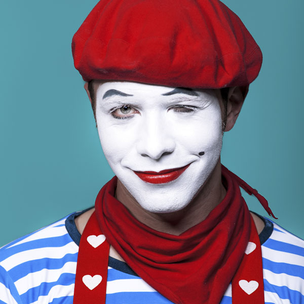 Mime with smirk