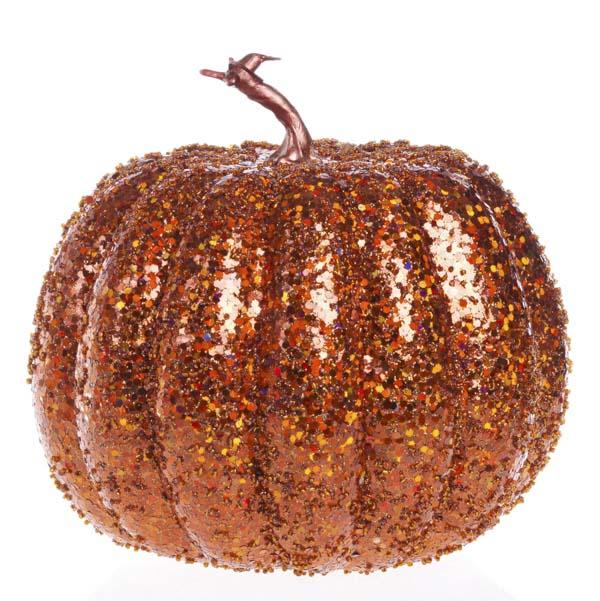 Orange glitter pumpkin