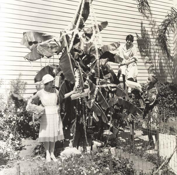 Vintage palm Christmas tree