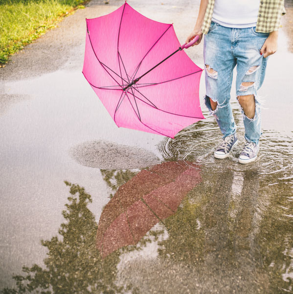 Jumping in puddle