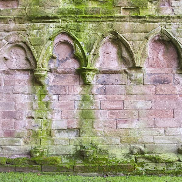 Wall of ruined abbey