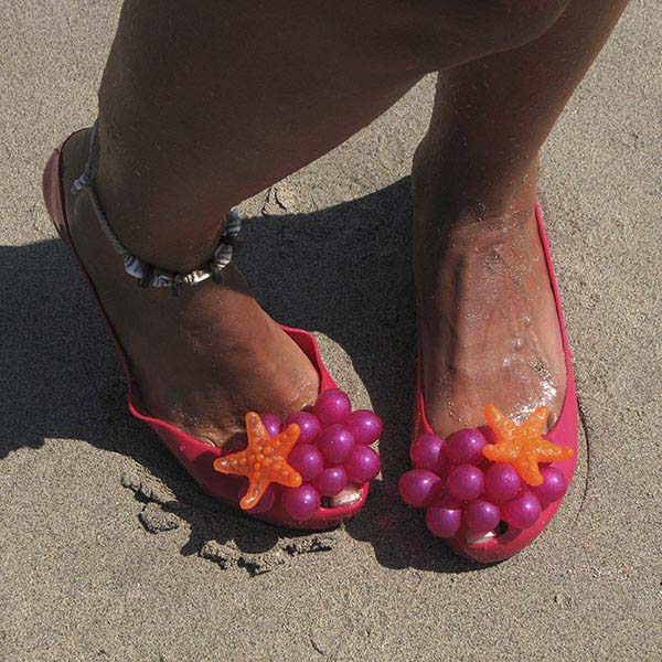 Cute jelly beach themed shoes