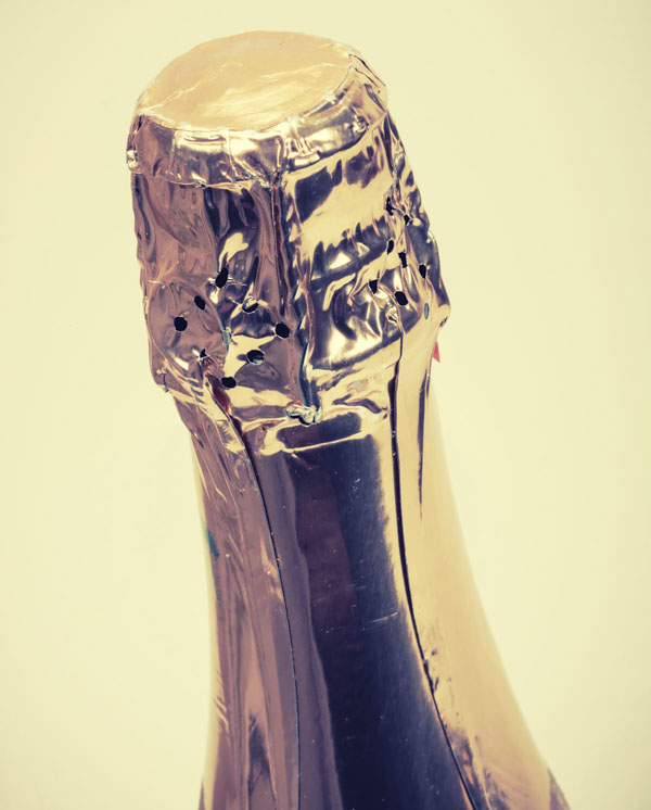 Top of champagne bottle