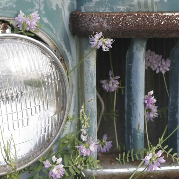 rust window near a headlight