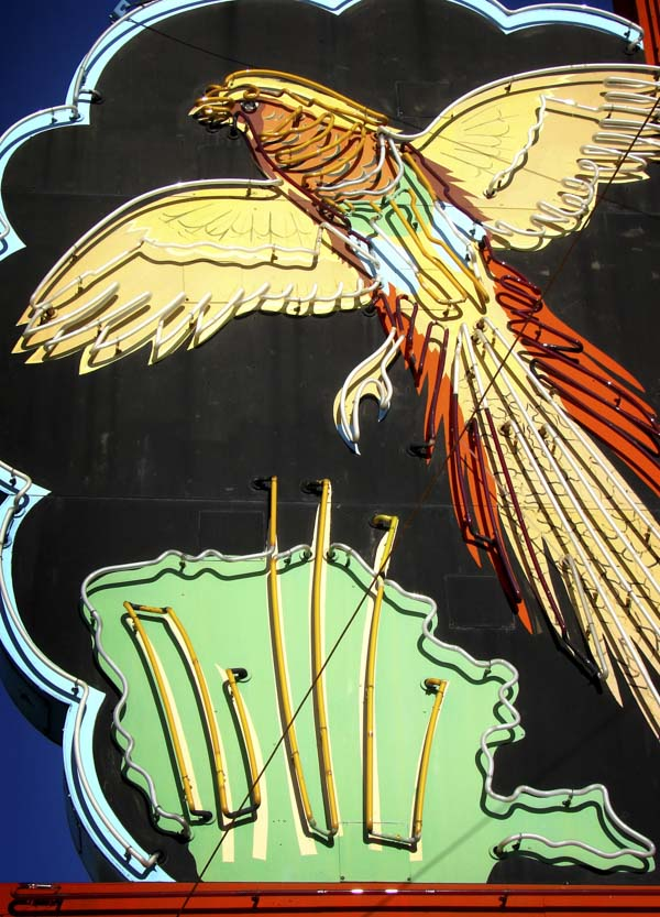 Neon hawk sign