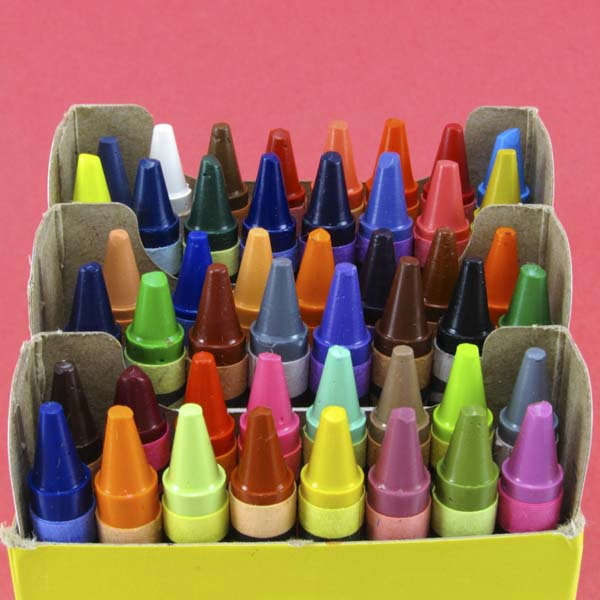 Box of color crayons