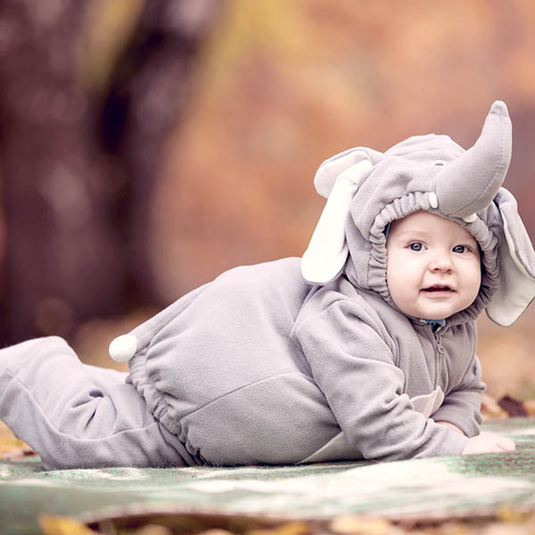 Baby in elephant costume