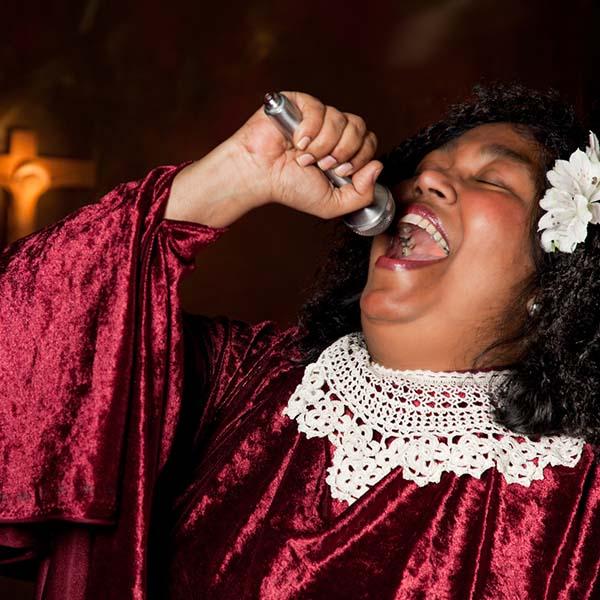 Gospel singer rejoicing through song