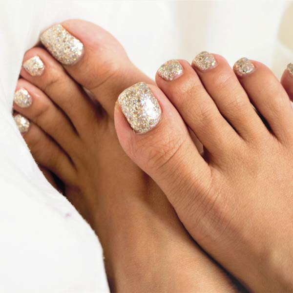 Glitter painted nails