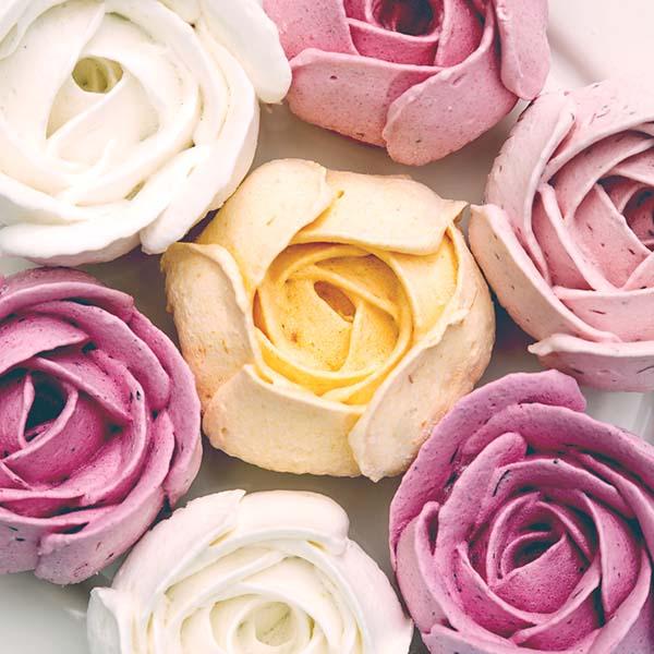 Rose petal sorbet
