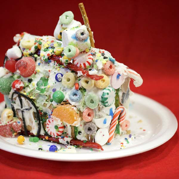 Messy gingerbread house