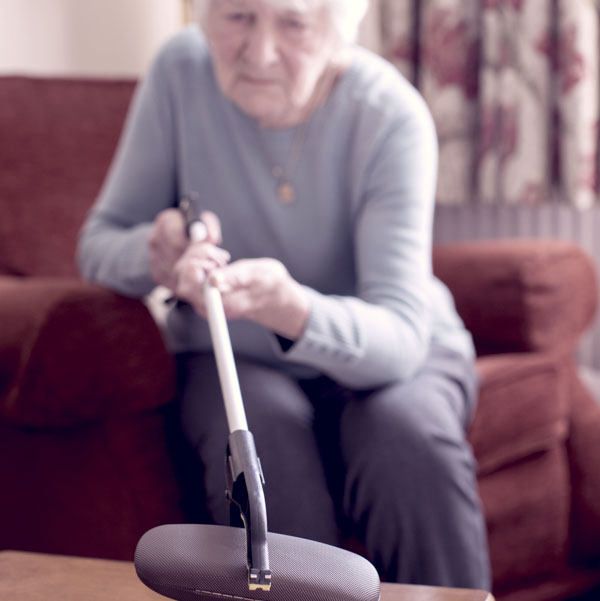 Grandma using a grabber