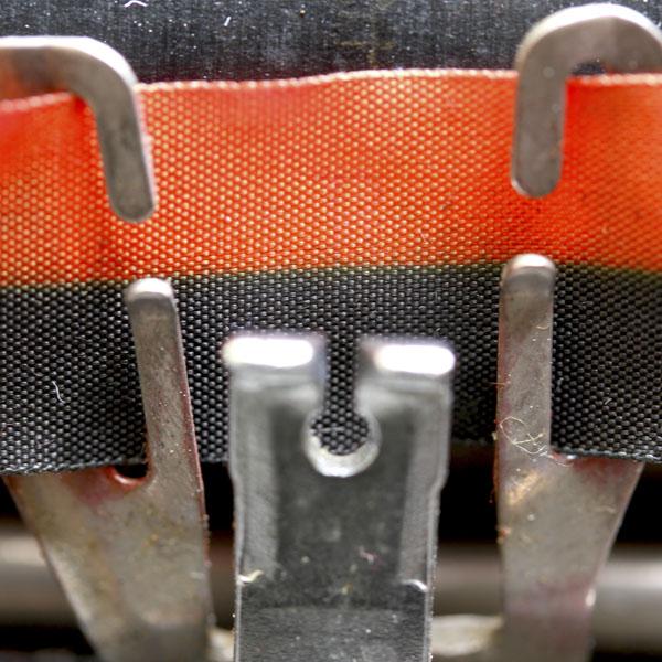 Red and black vintage typewriter ribbon